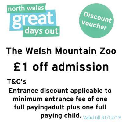 The Welsh Mountain Zoo Discount Voucher