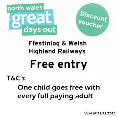 Ffestiniog & Welsh Highland Railways Discount Voucher