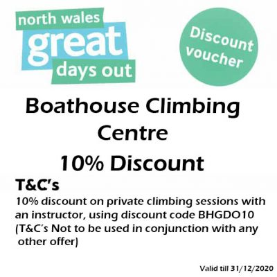 Boathouse Climbing Centre Discount Voucher