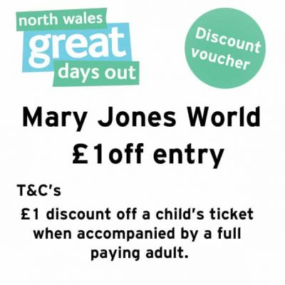 Mary Jones World Discount Voucher
