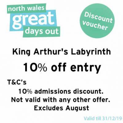 King Arthur's Labyrinth Discount Voucher